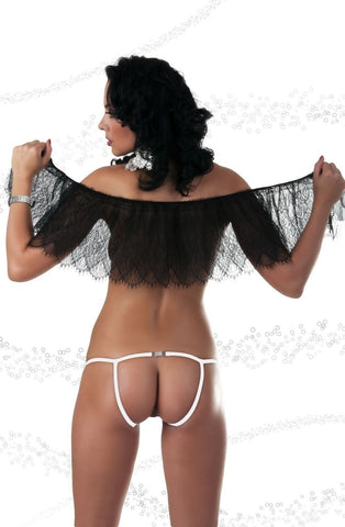 Passion Secret Thong (White) - Thongs - Passion - Charm and Lace Boutique