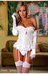 Provocative Magic Moments Corset Set (Ivory) - Corsets - Provocative - Charm and Lace Boutique