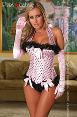 Provocative Magic Moments Corset Set (Pink) - Corsets - Provocative - Charm and Lace Boutique