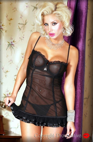 Provocative Soiree Intime Babydoll Set - Babydolls - Provocative - Charm and Lace Boutique