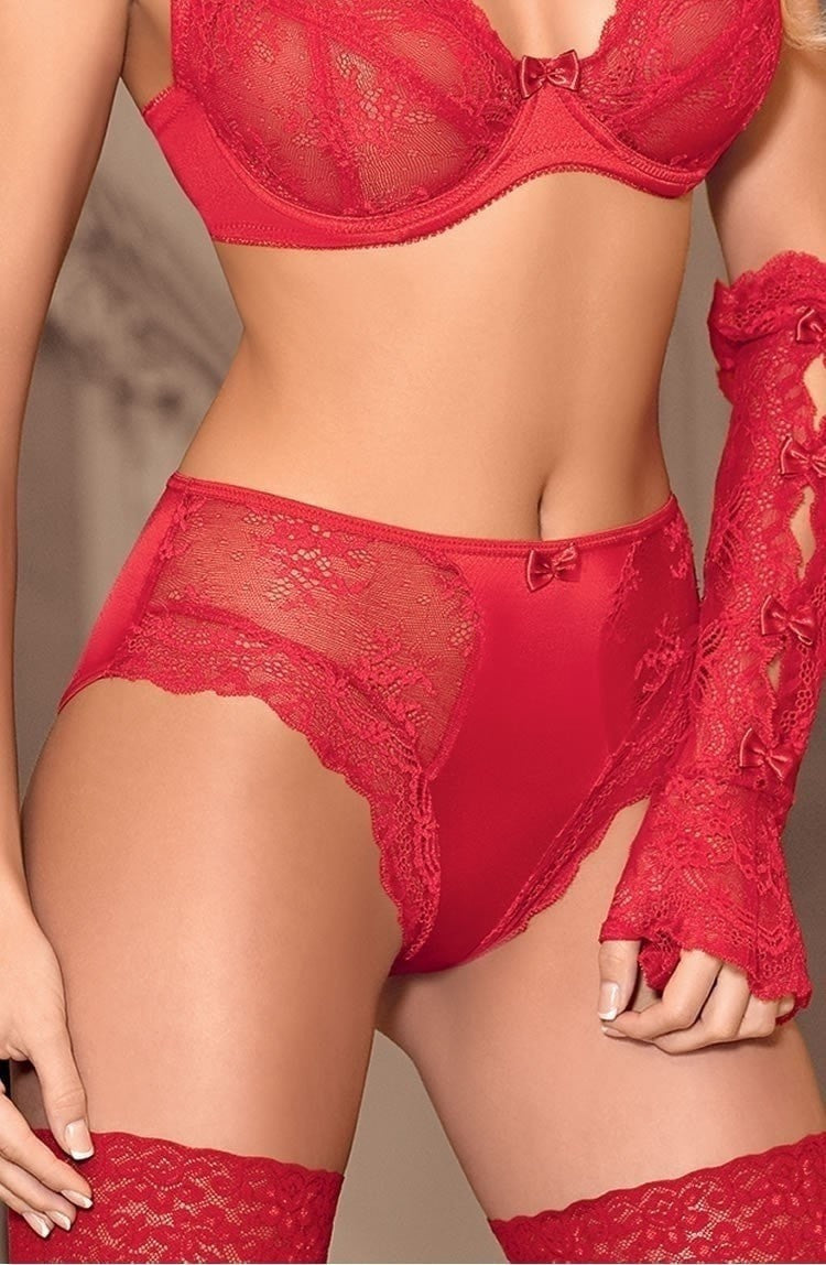 Roza Ambre Boxer Brief (Red) - Briefs - Roza - Charm and Lace Boutique