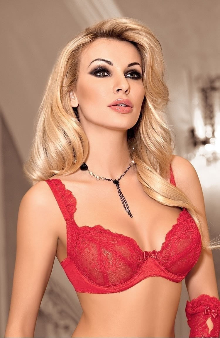 Roza Ambre Soft Cup Bra (Red) - Soft Cup Bras - Roza - Charm and Lace Boutique
