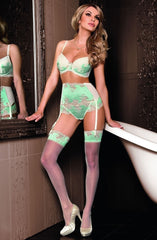 Roza Caryca Suspender Belt (Mint) - Suspender Belts - Roza - Charm and Lace Boutique