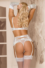 Roza Essme Suspender Belt (White) - Suspender Belts - Roza - Charm and Lace Boutique