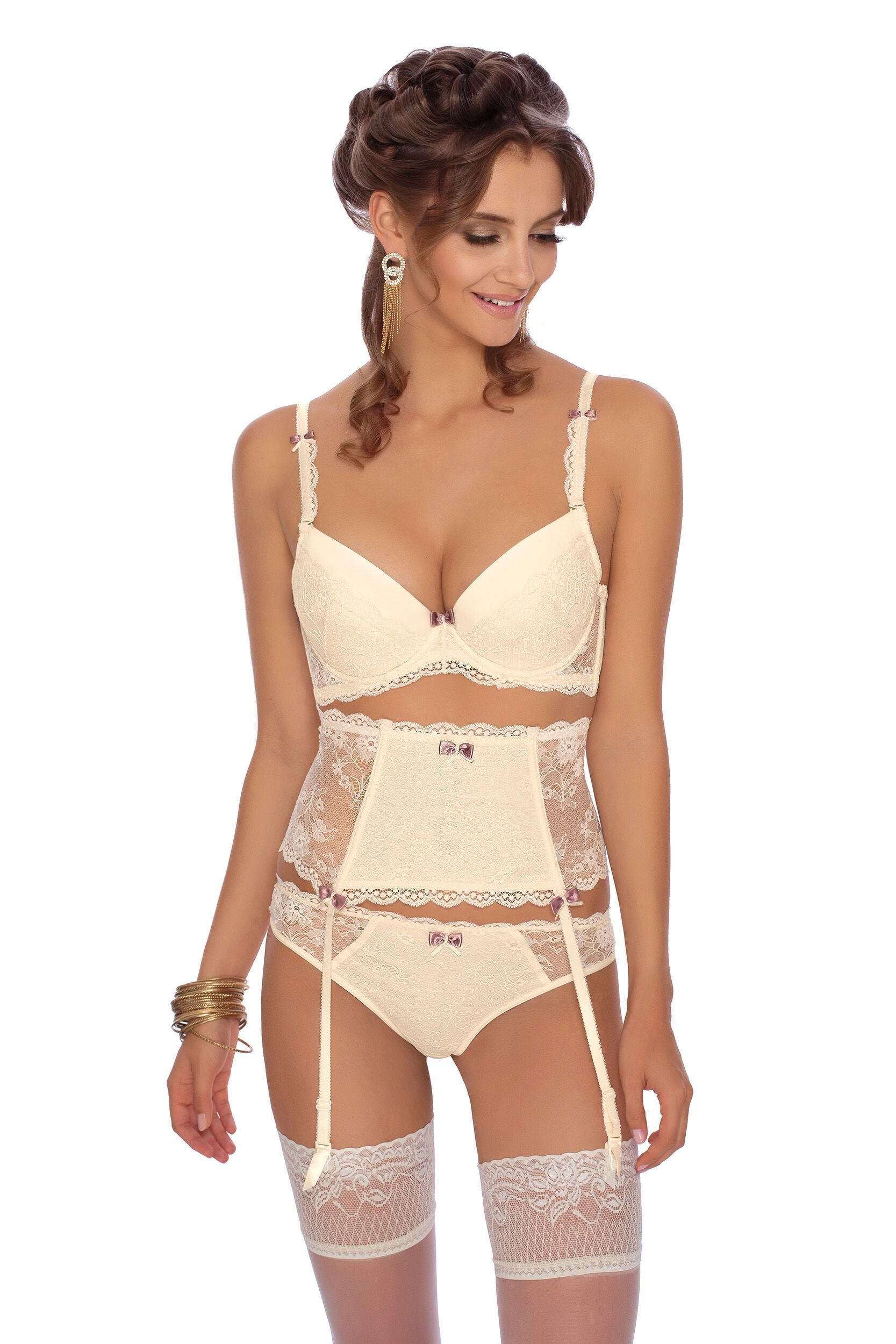 e26d78b3a Roza Fifi Suspender Belt (Ivory) - Suspender Belts - Roza - Charm and Lace