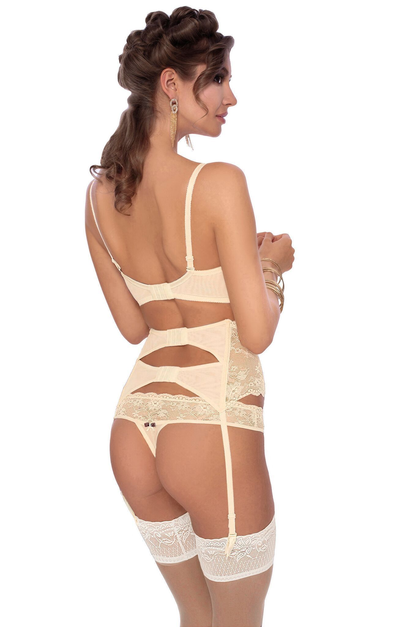Roza Fifi Thong (Ivory) - Thongs - Roza - Charm and Lace Boutique