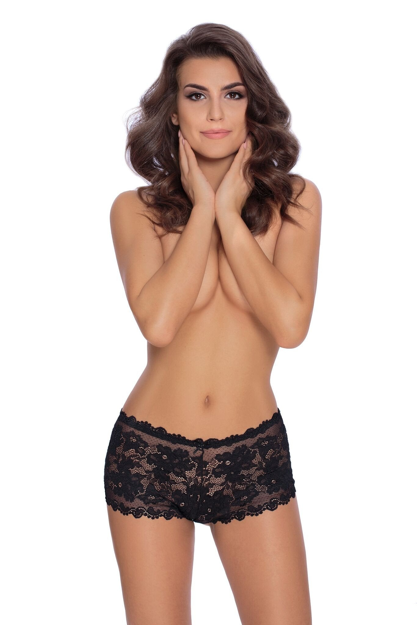 Roza Olympia Mini Short (Black) - Mini Shorts - Roza - Charm and Lace Boutique