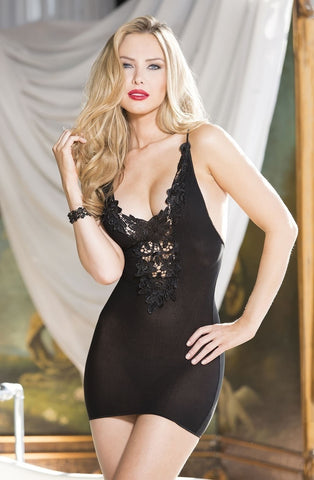 Shirley of Hollywood 90378 Chemise (Black) - Chemises - Shirley of Hollywood - Charm and Lace Boutique