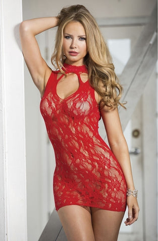 Shirley of Hollywood 90393 Chemise (Red) - Chemises - Shirley of Hollywood - Charm and Lace Boutique
