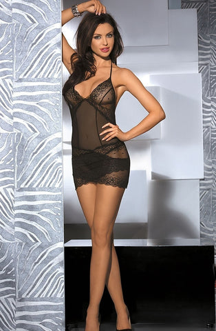 Shirley of Hollywood 96562 Chemise (Black) - Chemises - Shirley of Hollywood - Charm and Lace Boutique