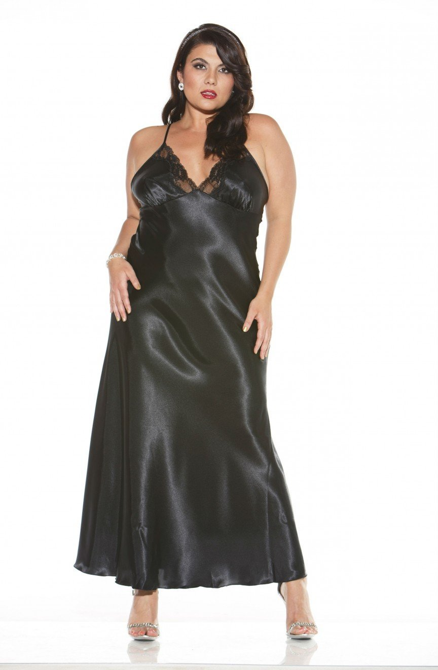 Shirley of Hollywood Plus Size Long Gown (Black) at Charm and Lace ...