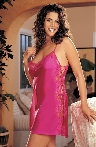 Shirley of Hollywood X20015 Plus Size Chemise (Pink) - Plus Size Chemises - Shirley of Hollywood - Charm and Lace Boutique