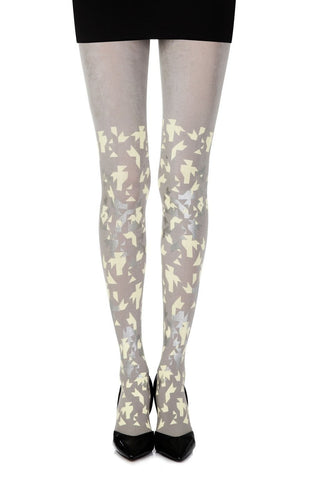 "Zohara ""Confetti"" Tights (Grey) - Tights - Zohara - Charm and Lace Boutique"