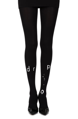 "Zohara ""Drop"" Tights (Black) - Tights - Zohara - Charm and Lace Boutique"