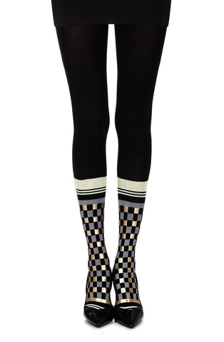 "Zohara ""Happy Socks"" Tights (Black/Multi) - Tights - Zohara - Charm and Lace Boutique"