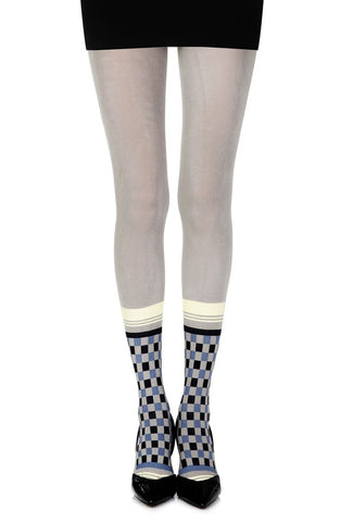 "Zohara ""Happy Socks"" Tights (Grey/Multi) - Tights - Zohara - Charm and Lace Boutique"