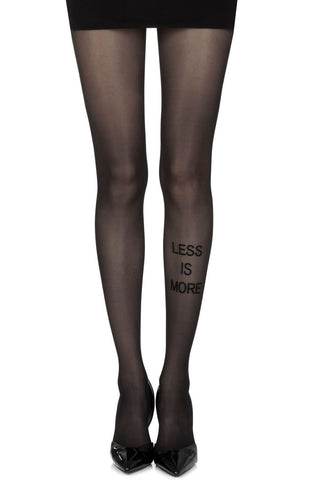 "Zohara ""Less Is More"" Sheer Tights (Black) - Tights - Zohara - Charm and Lace Boutique"