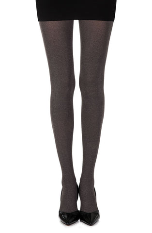 Zohara Opaque Tights (Heather Brown) - Tights - Zohara - Charm and Lace Boutique