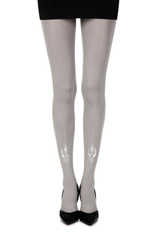 "Zohara ""Silver Line"" Tights (Grey) - Tights - Zohara - Charm and Lace Boutique"