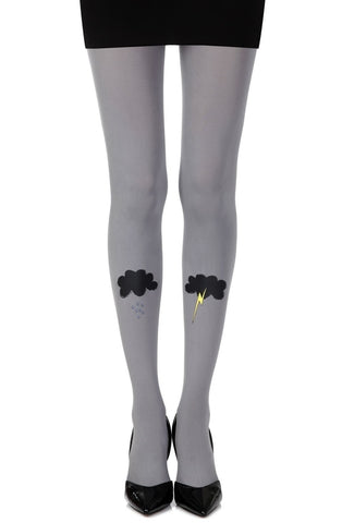 "Zohara ""The Perfect Storm"" Tights (Grey) - Tights - Zohara - Charm and Lace Boutique"