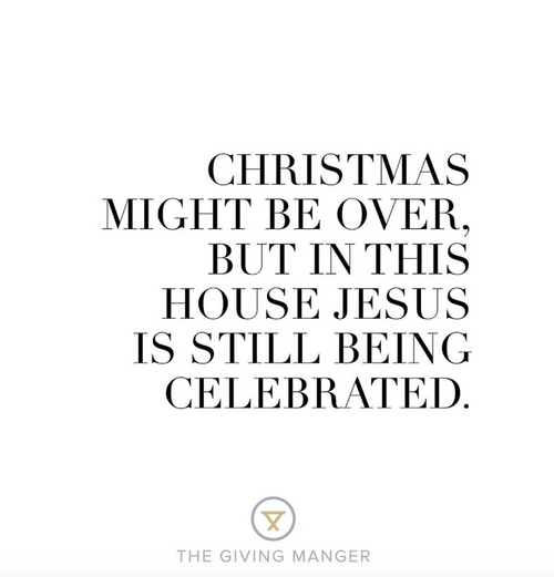 Jesus is Still Being Celebrated
