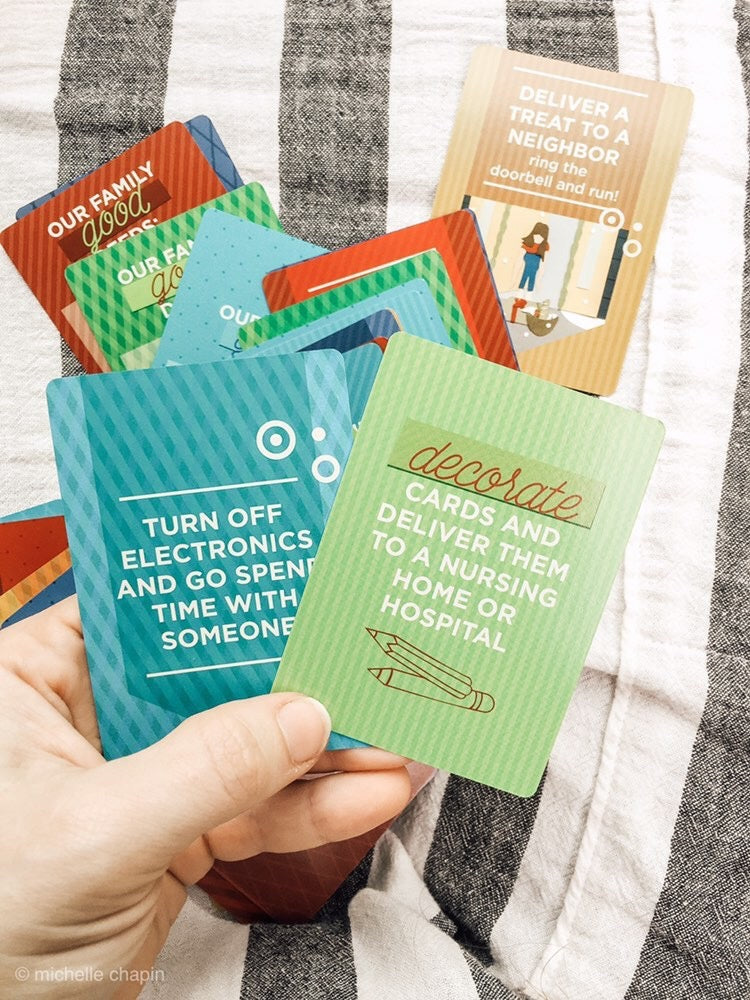Kindness Cards are a deck of 55 ideas to help you spread joy