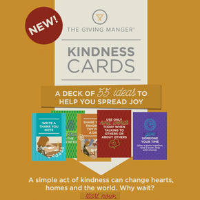 Kindness Cards are a deck of 55 ideas to help you teach kids to give back in their community