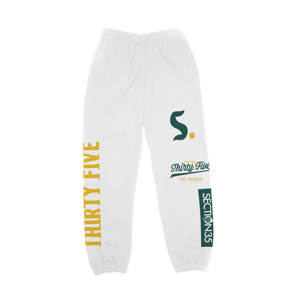 SECTION 35 - Legend Sweatpants (White)