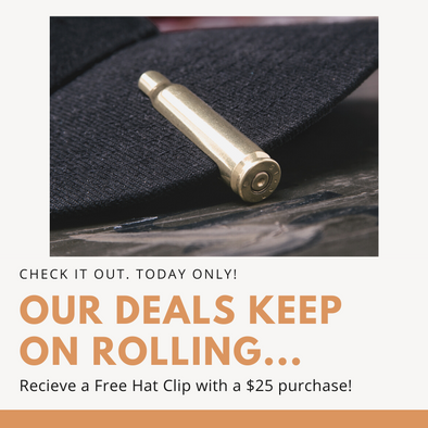 Black Friday 2019: Free Bullet Hat Clip