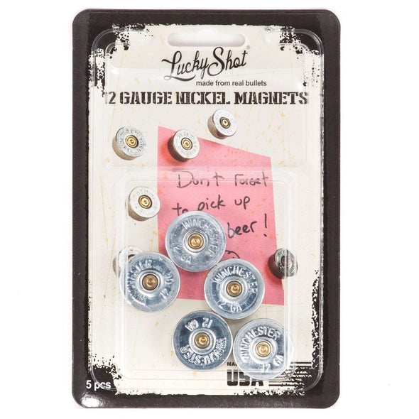 12 Gauge Real Bullet Magnets - Nickel (5 per pack)