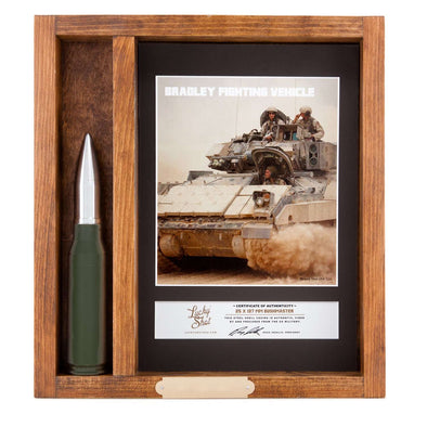 25MM Bushmaster Trench Art Shadow Box