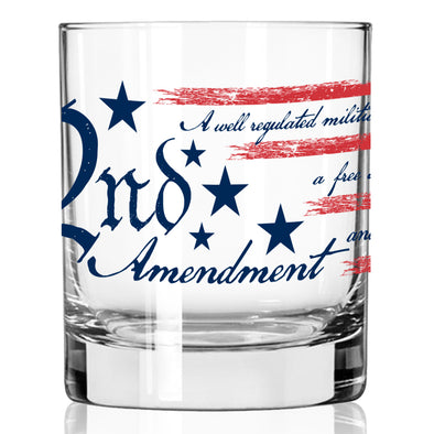 Whiskey Glass - 2nd Amendment Flag 360 Wrap