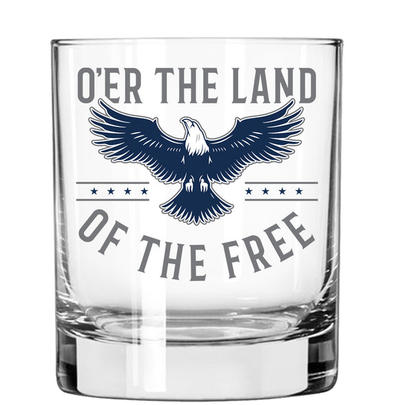 Whiskey Glass - The Land of the Free - Eagle