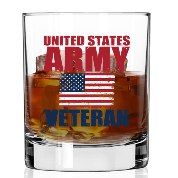 Whiskey Glass - United States Army Veteran