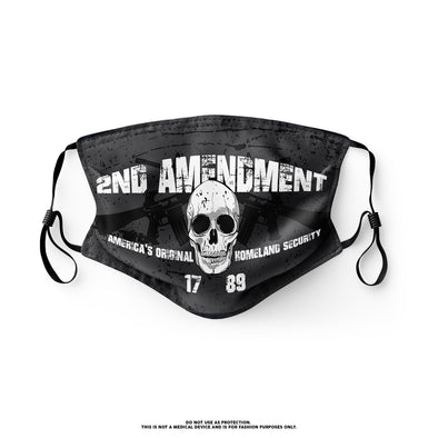 2nd Amendment - America's Original Homeland Security - Skulls and Guns Mask