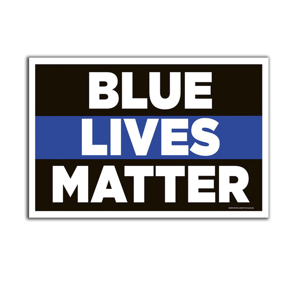 "Blue Lives Matter 12"" x 18"" Two Pack Yard Signs"
