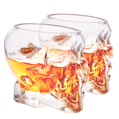 2 pack - Headshot Whiskey Glasses + Coasters