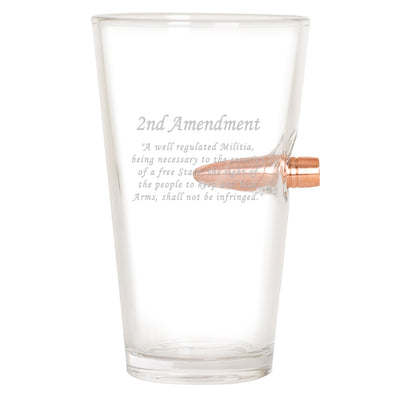 .50 Caliber Bullet Pint Glass - 2nd Amendment