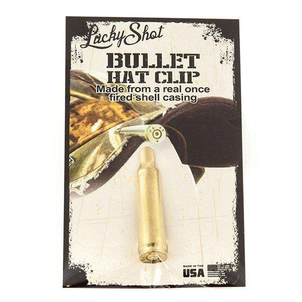 .308 Caliber Real Bullet Hat Clip in Brass
