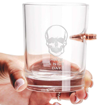 .308 Real Bullet Hand-made Whiskey Glass – Have a Nice Day