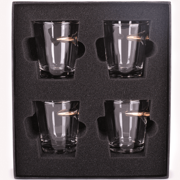 .308 Bullet Shot Glass Gift Set