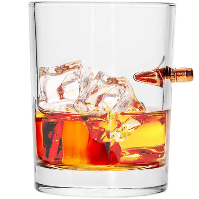 .308 Real Bullet Handmade Whiskey Glass Single