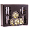 .308 Bullet Whiskey Glass with Coasters Gift Set