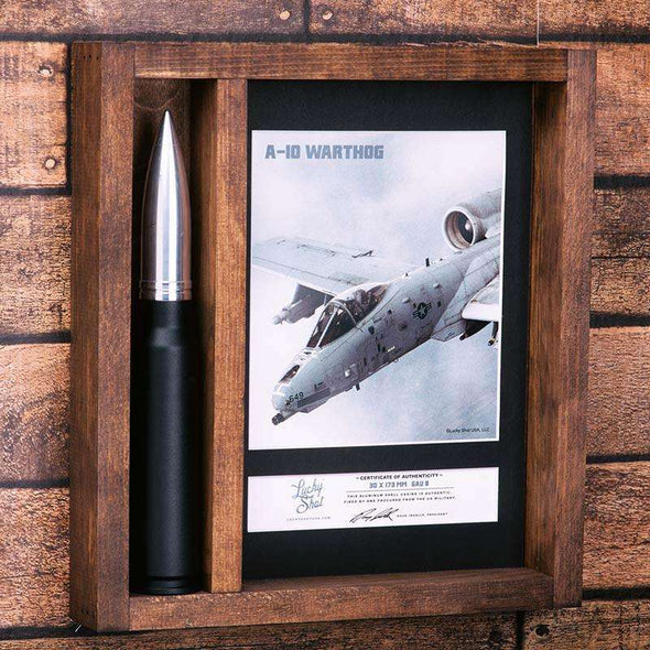 30mm A-10 GAU 8 Warthog Trench Art Shadow Box
