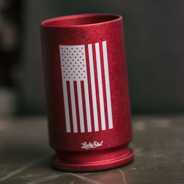 "30MM A-10 Warthog Shell ""Flying Flag"" Shot Glass"