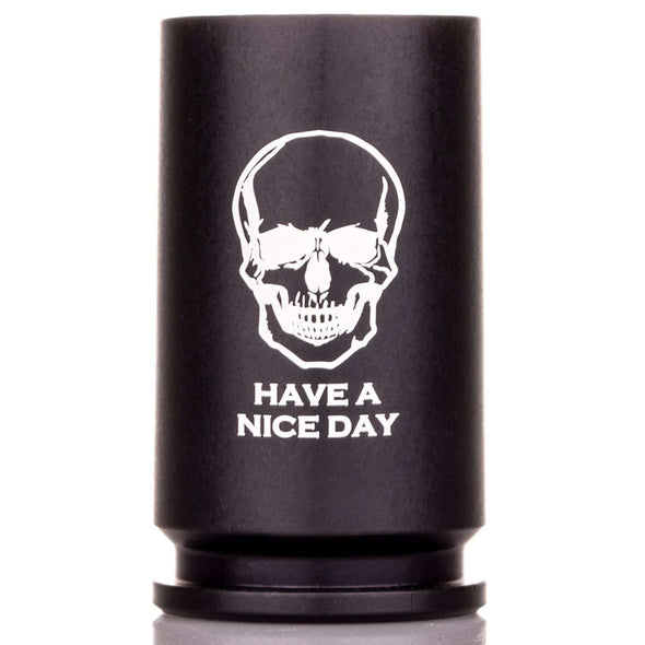 "30MM A-10 Warthog Shell Shot Glass -  ""Have a Nice Day"""