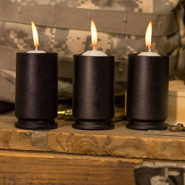 30MM GAU-8 Black Candle Votive and Candle (Set of 3)