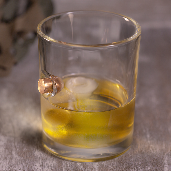 .45 Caliber Bullet Whiskey Glass