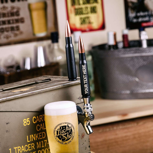 .50 Caliber Bullet Beer Tap in Black