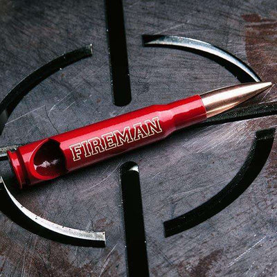 50 Caliber® Bullet Bottle Opener Engraved with FIREMAN